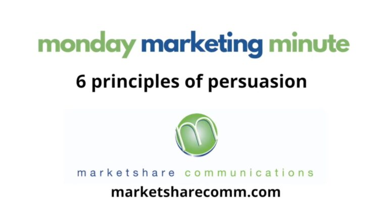 6 Principles of Persuasions - Monday Marketing Minute